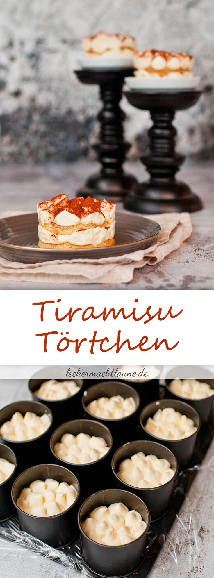 Die liebste italienische Nachspeise mal im anderen Gewand: Tiramisu-Törtchen! Leicht vorzubereiten und wunderbar bei einem festlichen Anlass.