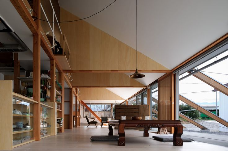 longhouse in suzaka toyata city shiozaki designboom