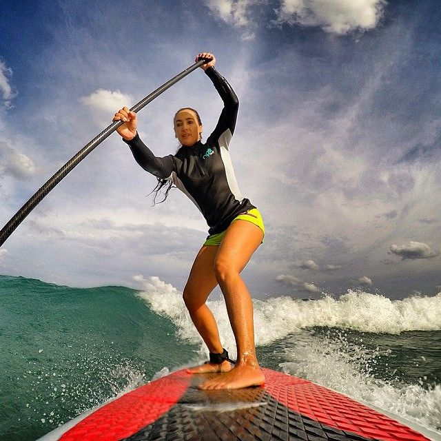 """Jupiter #Beach, #Florida: @outdoorwomen 's #Instagram channel featured @alexwaterchica, who says, """"No matter what kind of day you had, if you are able to go out there and hit some #waves you just made it an awesome day!"""" :: How do you get out there and make it happen? Share with us by tagging #outdoorwomen! #SUP #surf"""
