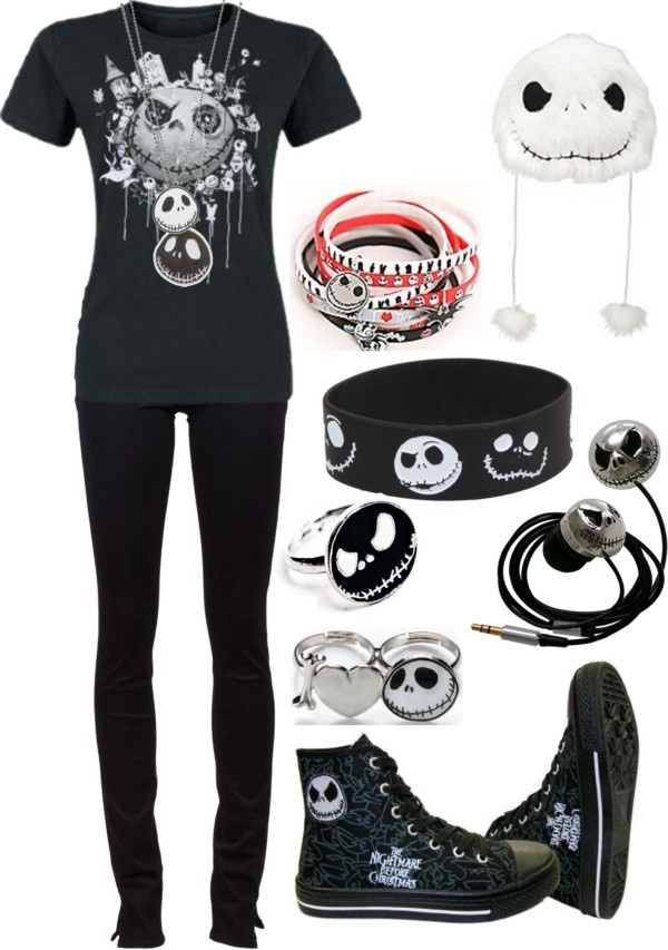 """""""Jack Skellington, bitches!!"""" by bvb3666 ❤ liked on Polyvore"""