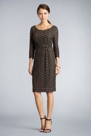 Luxury Knotted Knit Dress for the office