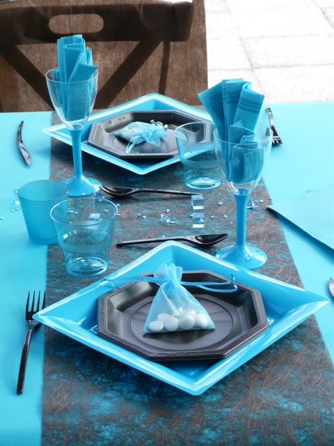 55 best images about d coration de table on pinterest for Decoration de table bleu turquoise
