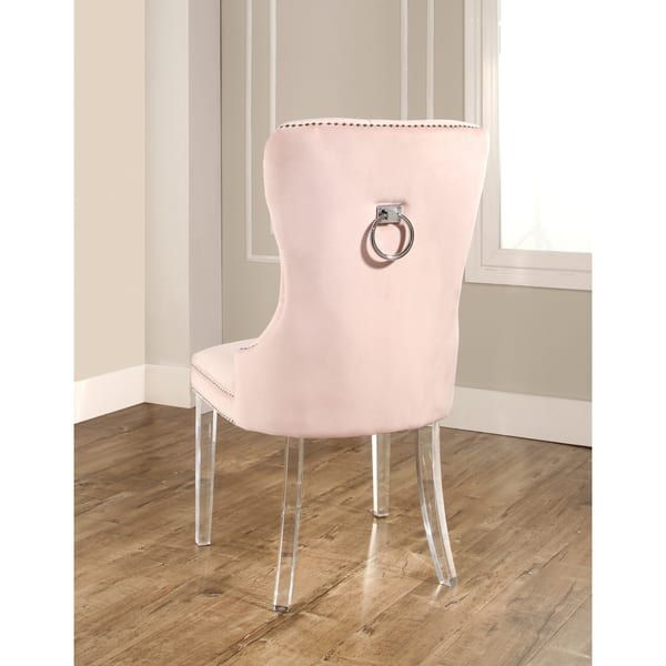 Abbyson Villette Tufted Velvet Dining Chair