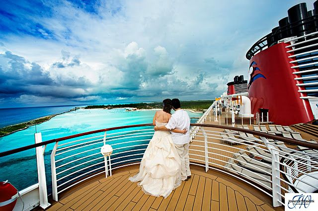 Wouldn't necessarily want a cruise wedding, but I love some of these locations for honeymoon photos