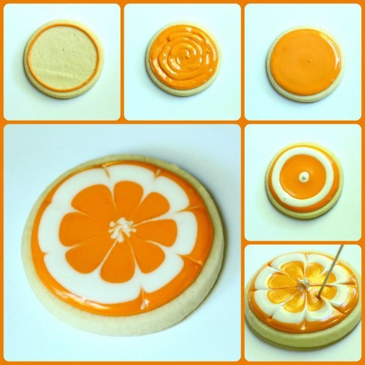 Orange pinwheel cookies
