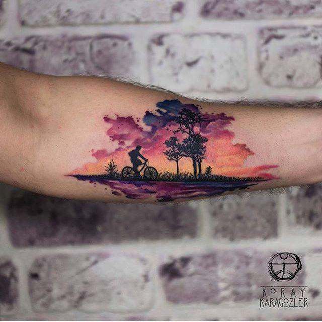 25+ Best Ideas About Sunset Tattoos On Pinterest