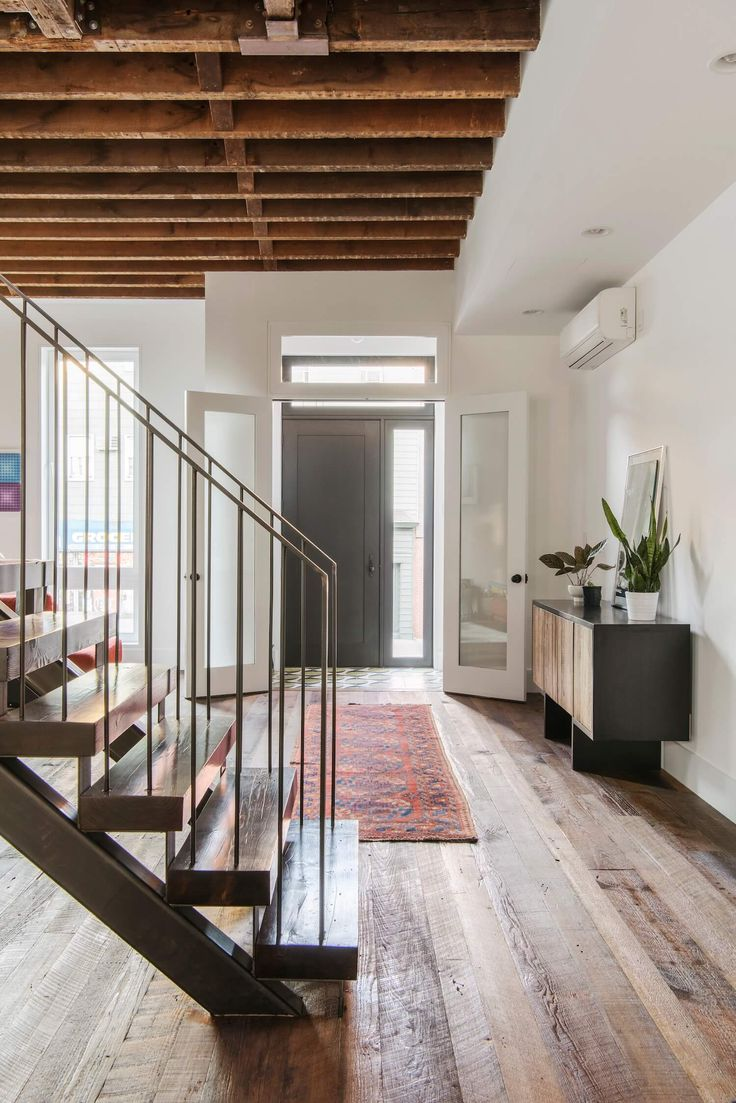 staircase lorimer street townhouse by elizabeth roberts est living - Townhouse Design Ideas