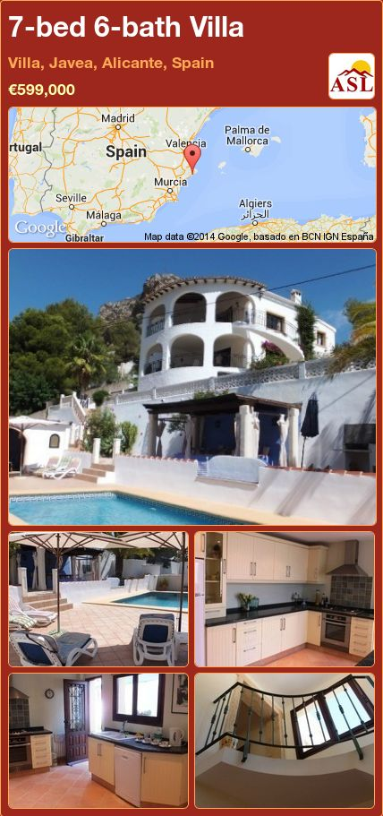 7-bed 6-bath Villa in Villa, Javea, Alicante, Spain ►€599,000 #PropertyForSaleInSpain