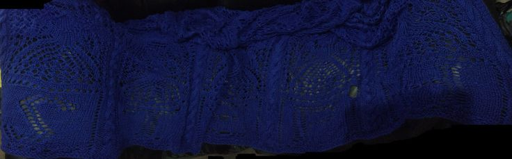 2 of 2 Another blanket finished this one my daughter requested Need 2 take better panoramas. I'm definitely going into any photography business 😂😂😂 Bottom says Steph 💜💜💜 #AngelKnits4You by @AutistasAngeles