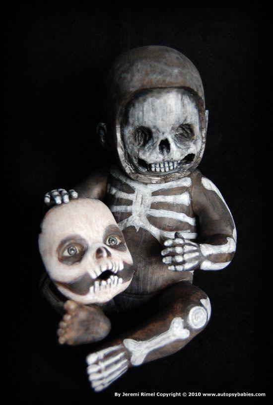"""""""Skullen"""" 2010 Halloween Autopsy Baby by Miscreation Art: www.autopsybabies.com"""