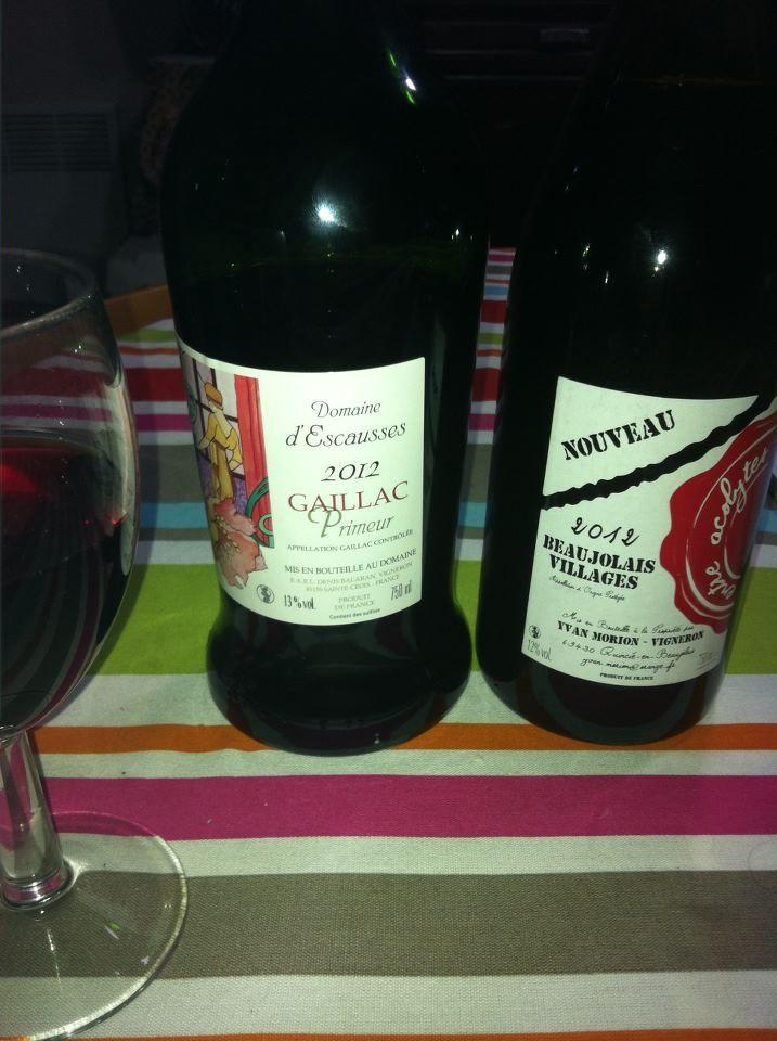 Les beaujolais nouveaux beaujolais nouveau verre rouge vin