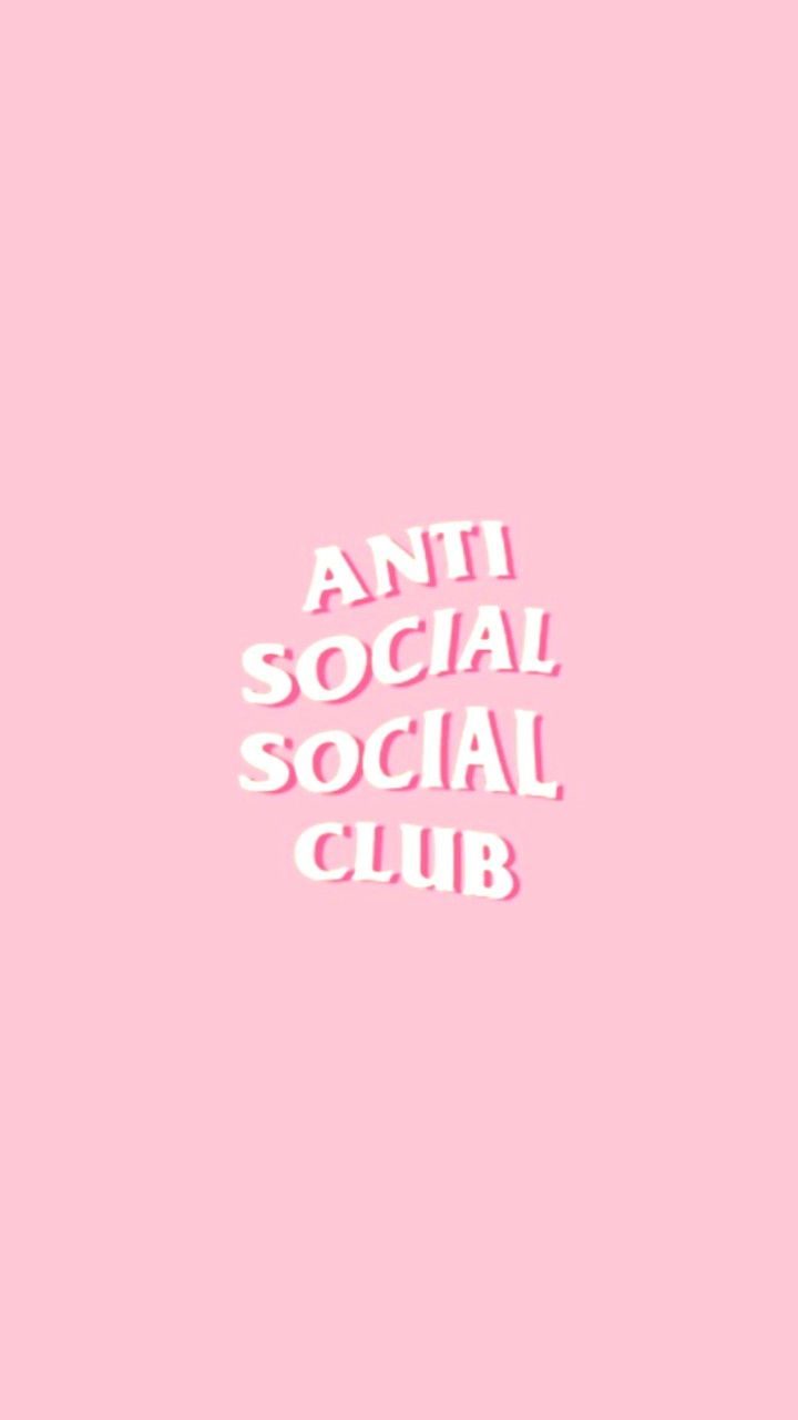 filler anti social social club assc background Pink