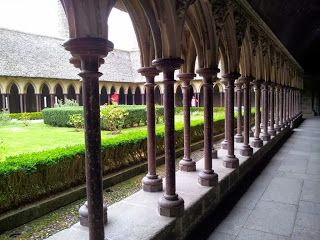 Cloisters of the Mont St Michel Abbey