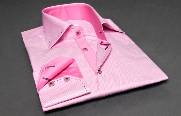 Pink Shirt Cotton-piqué Thin Stripes (Double Twisted), Waisted-fit - Dress Shirts for Men - French-Shirts.com