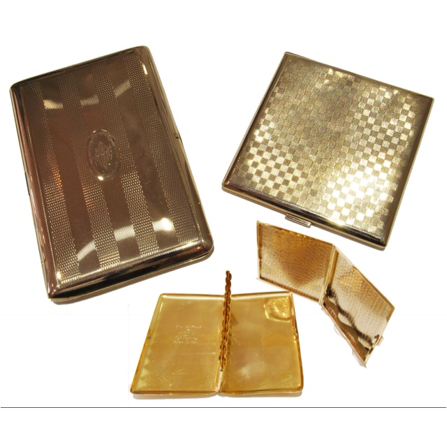 solid gold cigarette cases from the Mad Men era when