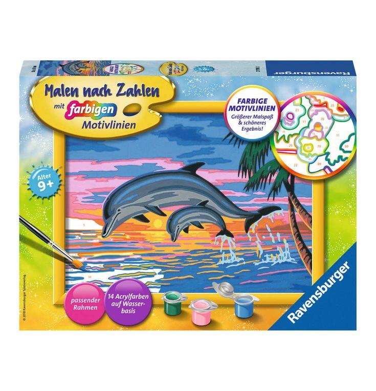 Paradies Der Delfine Malen Nach Zahlen Malen Motive