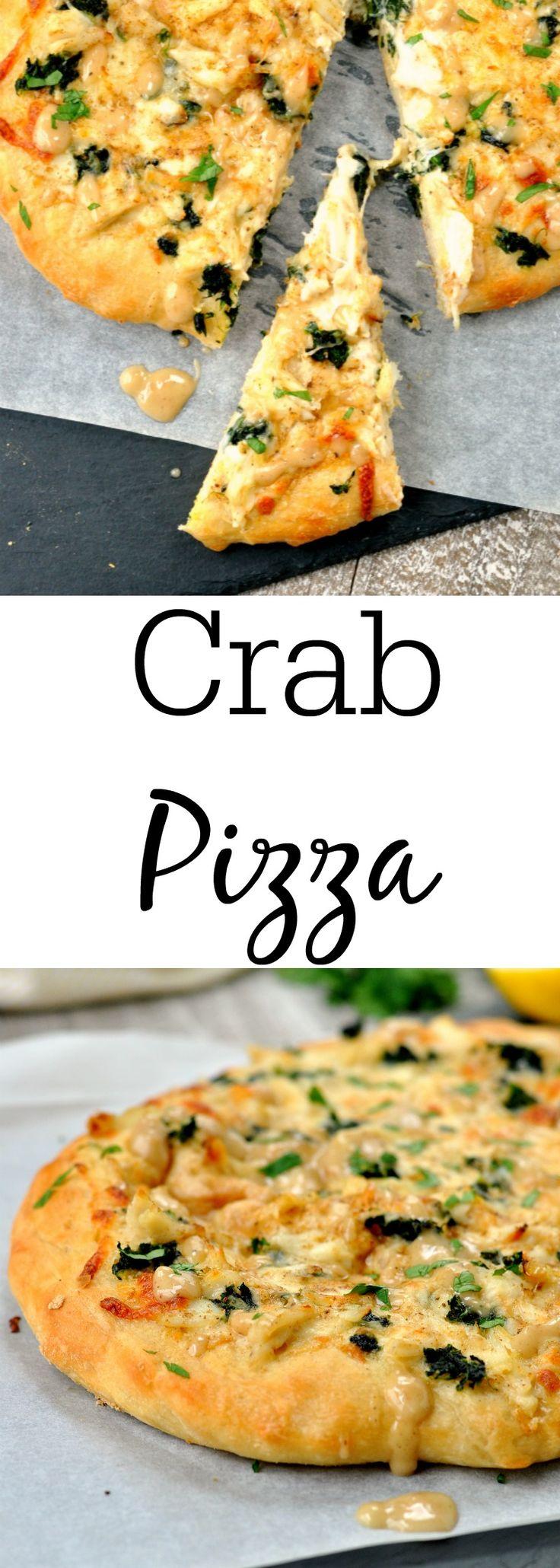 Creamy Crab Pizza