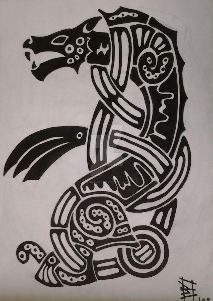 Resultat d'imatges de simbologia lobo tatto vikinga