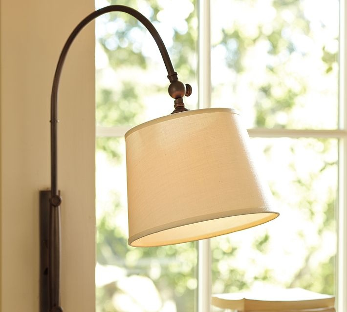 Reading nook sconce (plug-in) @ Pottery Barn NEW HOME LIGHTING IDEAS Pinterest Nooks ...