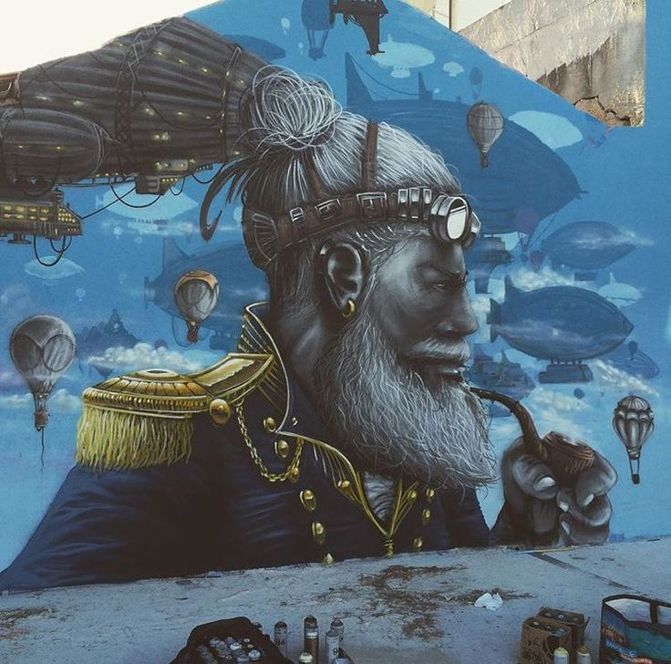 Best STREET ART Images On Pinterest Street Art Urban Art And - Artist paints incredible seaside murals balanced on surfboard