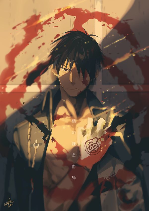 This has got to be one of the best depictions of Roy Mustang I've seen so far!! Fullmetal Alchemist Brotherhood - Roy Mustang