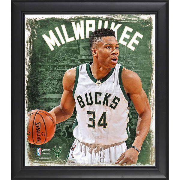 Giannis Antetokounmpo Milwaukee Bucks Fanatics Authentic Framed 15