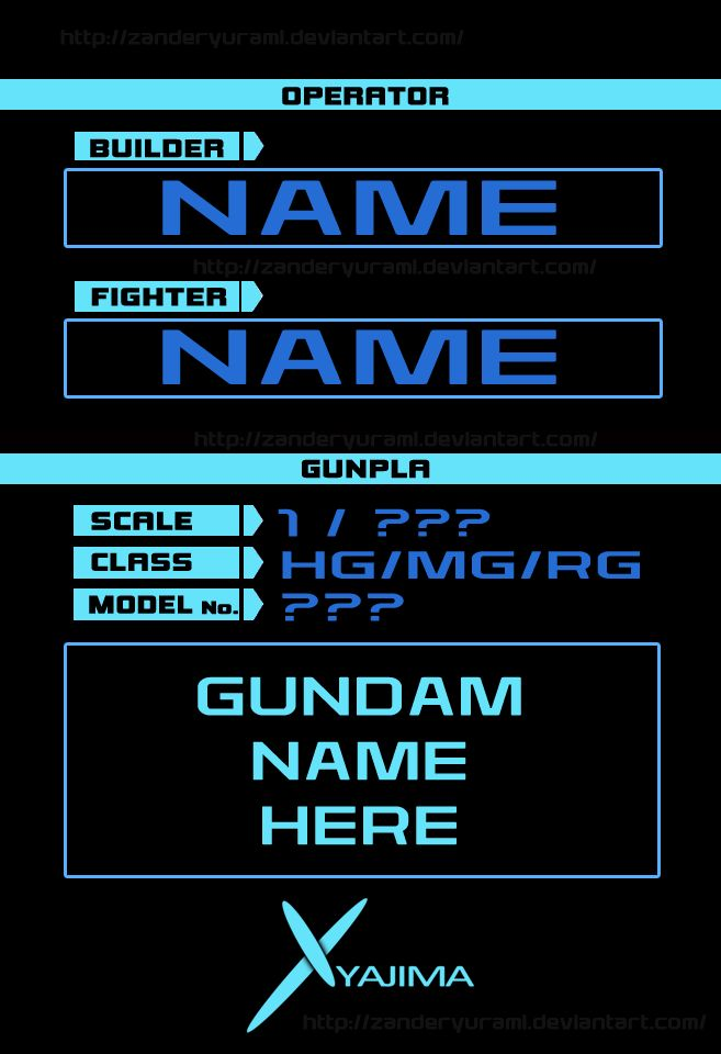 GP BASE TEMPLATE GUNDAM BUILD FIGHTERS TRY by ZanderYurami.deviantart.com on @DeviantArt