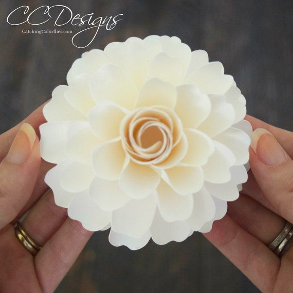 Small Dahlia Flower Template Pdf Printable Dahlia Flower Templates