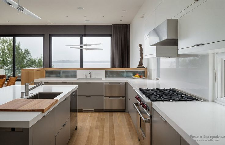 Мебель кухни в тиле хай-тек