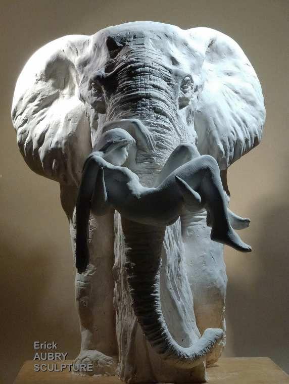 SCULPTURE ELEPHANT - Erick Aubry
