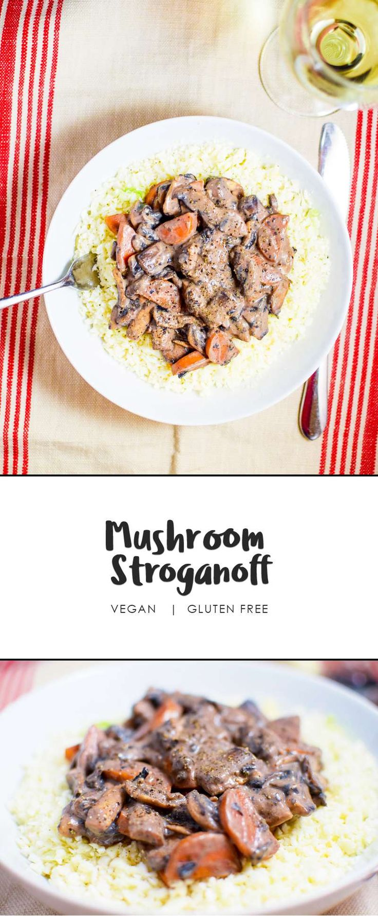 """Dairy free, 100% vegan Mushroom Stroganoff! You're right to think """"well what's in it then?"""" Get this easy healthy dinner recipe into the meal plan right now, you won't be sorry!"""