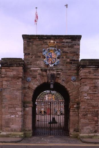 Berwick-upon-Tweed Barracks - gateway to the Barracks via English Heritage
