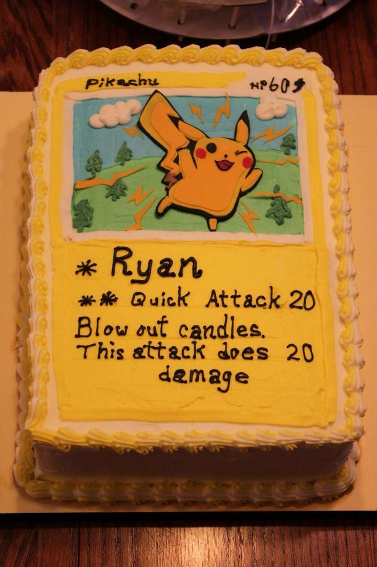 Pokemon card cake pikachu