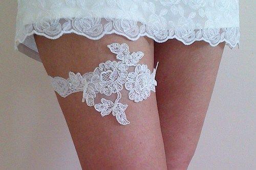 Handmade Ivory Bridal Garter