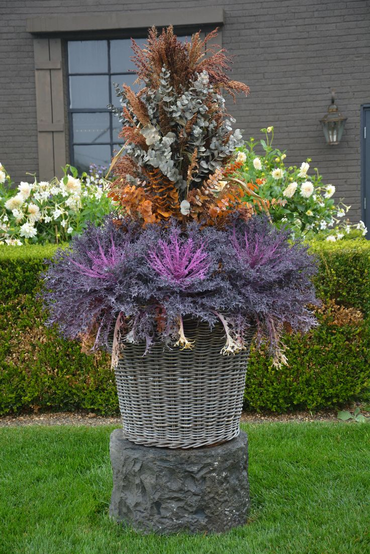 127 best fall container arrangements images on pinterest fall fall container with broom corn stalks dhlflorist Images
