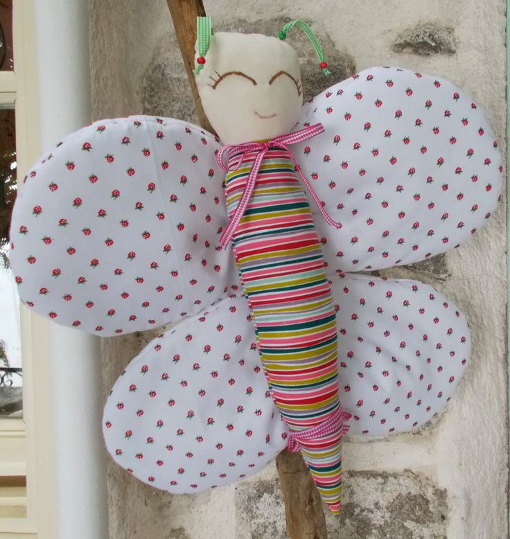 Butterfly rattle toy. The body detaches from the wings.