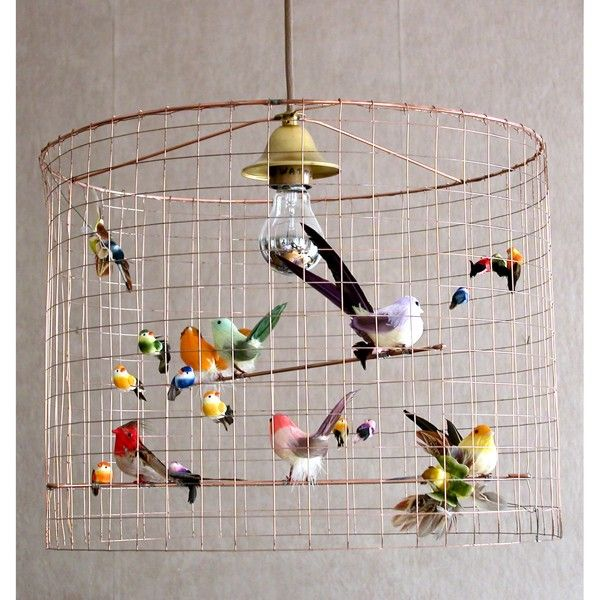 I don't know why you couldn't use a bird cage. Then I'd make some felted birds.