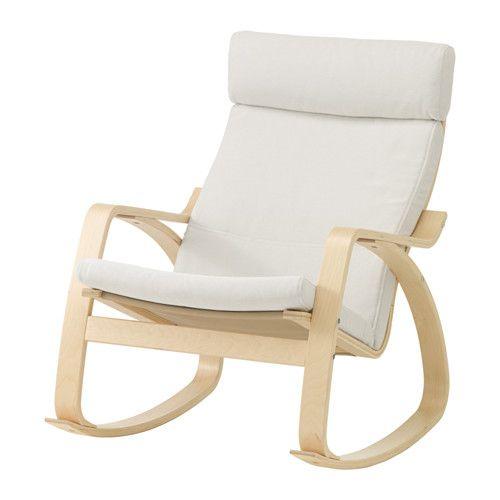 POÄNG Fauteuil à bascule IKEA Structure flexible en multiplis de hêtre pour une souplesse très confortable.