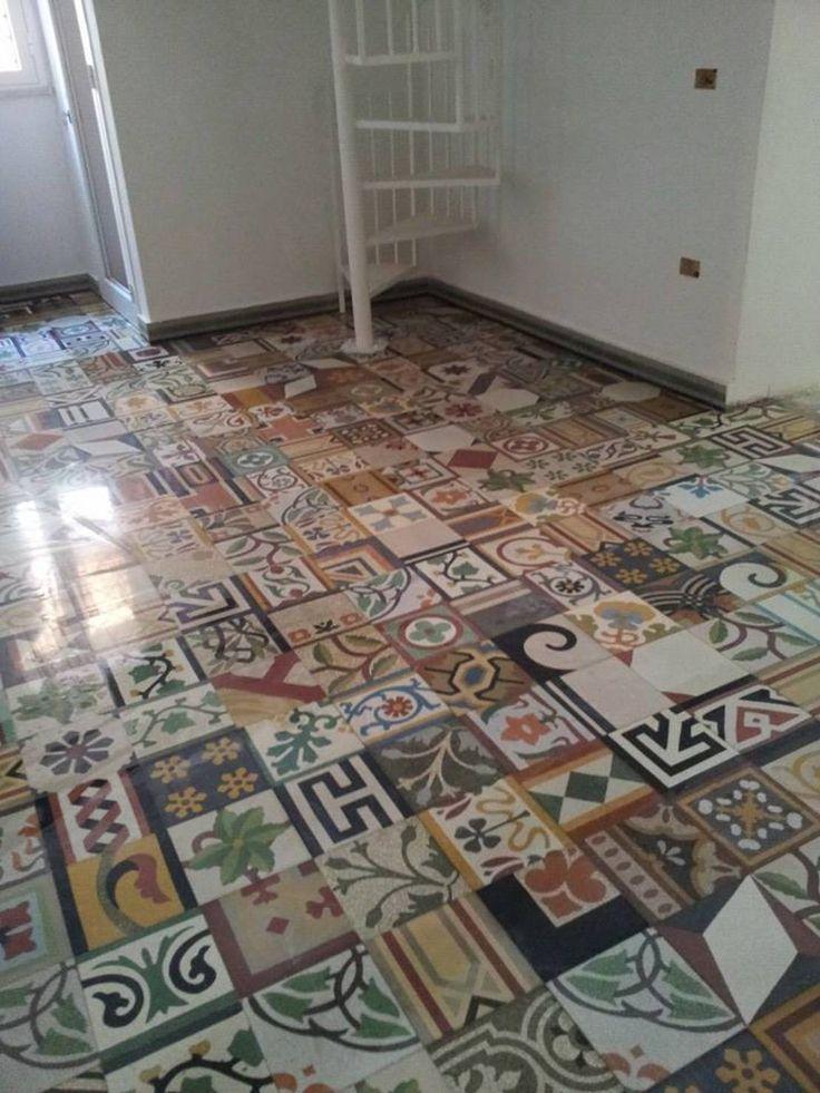 Oltre 1000 idee su pavimenti in cemento verniciati su - Incollare piastrelle su pavimento esistente ...