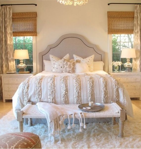 43 Best Images About Silver And Gold Bedroom On Pinterest