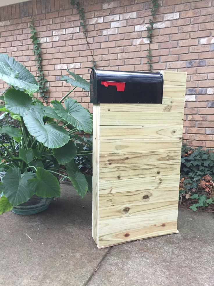 The Southern, Midcentury Mailbox, Cedar Mailbox, Custom Mailbox, Handmade, Mailbox, Rustic Mailbox by SawdustandCedar on Etsy