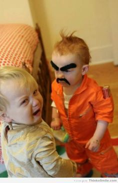 Crazy Eyebrows Baby Escapes from Prison