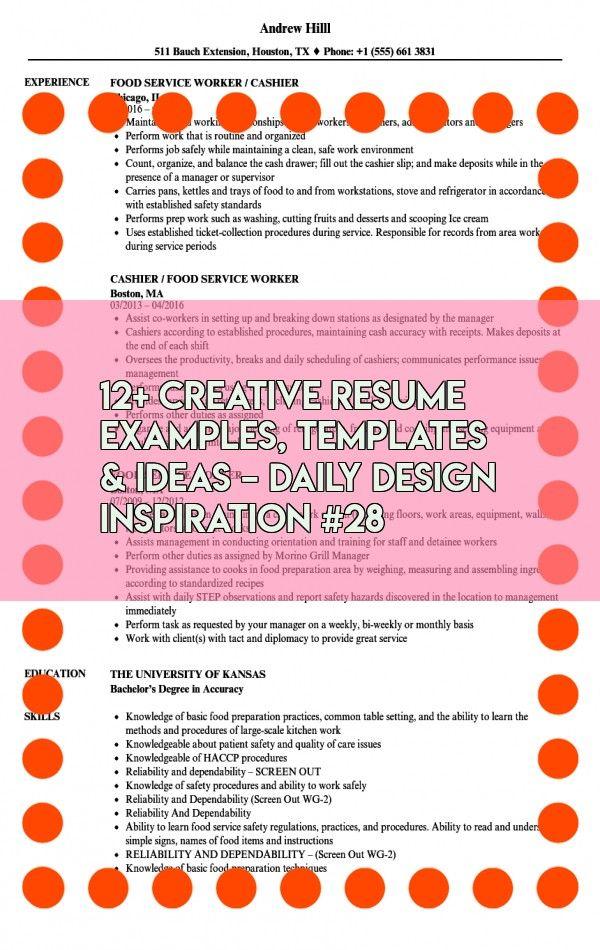 12 Creative Resume Examples Templates Ideas Daily Design Inspiration 28 In 2020 Resume Examples Creative Resume Resume