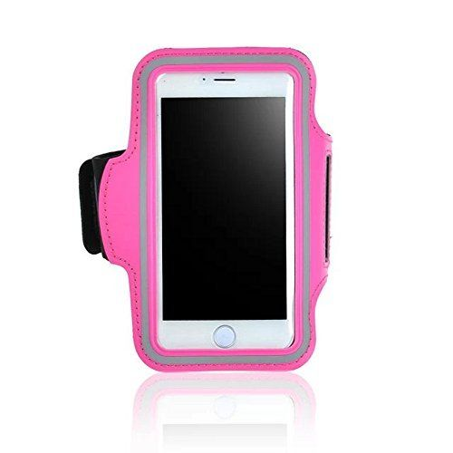 Premium Sports Armband Case to Fit Cellphone Screen Size from 4.5 to 5.0 inches, with Key Holder and Headphone Jack Pass through,for iPhone 6 (4.7''), 5 & 5S, for Samsung Galaxy S5 etc. - Pink. Material: Lightweight super soft Breathable and comfortable neoprene that is molded to twist and bend but will not stretch out of shape. Washable feature can keep sweat away from your phone. With reflective strip for safety. Comfortable to move around with. Never Chafe Skin - Ultra soft neoprene is...
