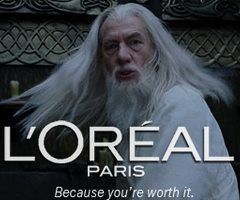 Loreal Paris x Gandolf Lord of the Rings.