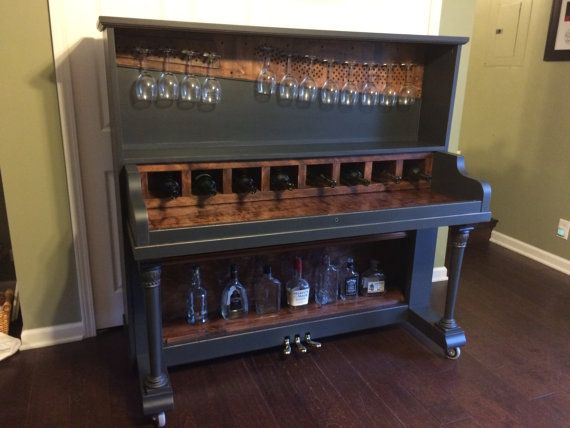 Upcycled Piano Bar Unique by theurbanupcyclers on Etsy