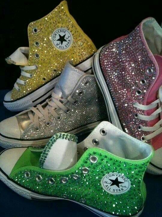 sparkly high top converse shoes receptions