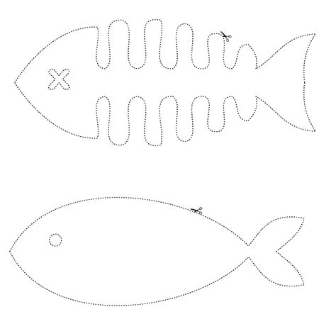 Fishes / Poissons - Cute pattern to use for catnip toys.