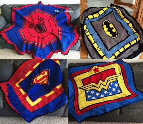 Crochet Batman Superhero 4 pack of patterns by VictoriaRoseShop