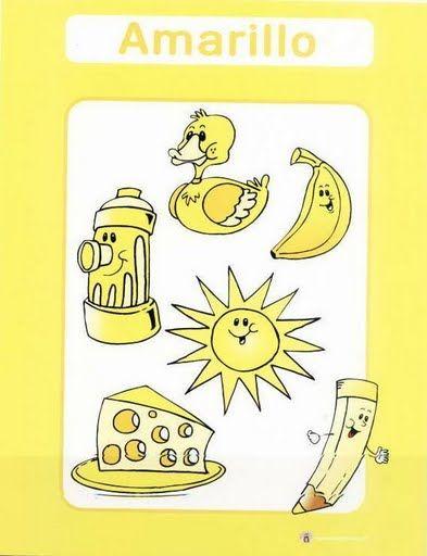 color amarillo fichas infantiles para aprender los colores imprimir gratis para niños